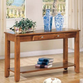 Logan Oak Sofa Table by Lauren Wells