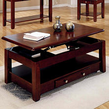 Logan Cherry Lift-Top Cocktail Table