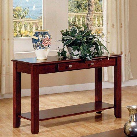 Logan Cherry Sofa Table by Lauren Wells