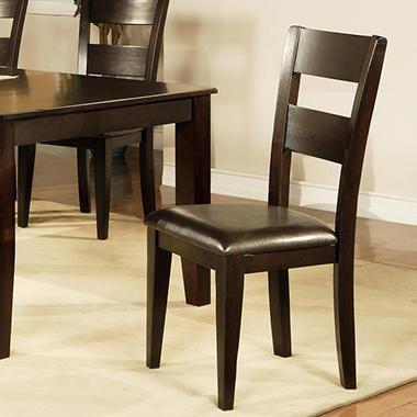 Attractive Weston Side Chairs   Espresso   2 Pk.