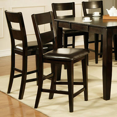 weston counter height chairs espresso 2 pk