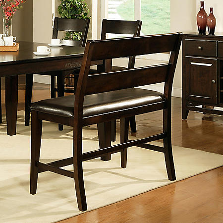 Weston Counter Height Dining Bench - Espresso