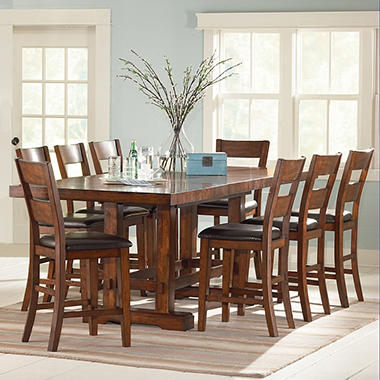 Ziva Counter Height Dining 9 Piece Set