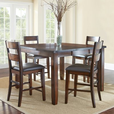 Wescott Counter Height Table and Chairs 5 Piece Dining Set Sams