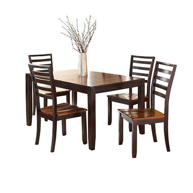 Pierson Extendable Table And Side Chairs, 5 Piece Dining Set