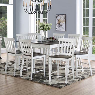 Jaiden Counter Height Dining Set 9 Pc