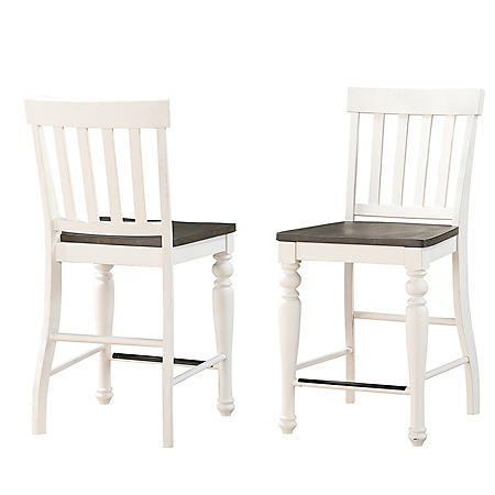 Jaiden Two-Tone Counter-Height Chairs - 2 pack