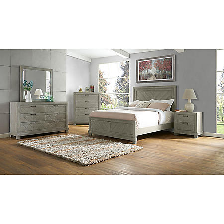 Arya Rustic Gray Bedroom Set (Assorted Sizes)
