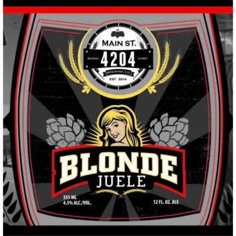 4204 Main St. Brewing Co. Blonde Juele (12 fl. oz. can, 6 pk.)