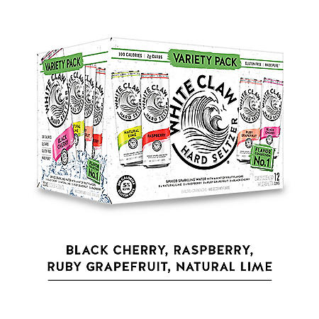 White Claw Hard Seltzer Variety (12 fl  oz  can, 12 pk ) - Sam's Club