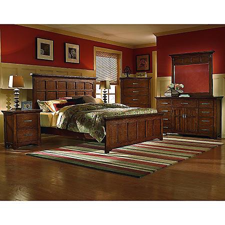 Sonora Oak Bedroom Set - Queen - 4 pc.