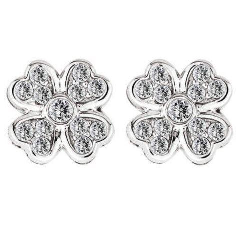 .96 ct. t.w Diamond Flower Earrings (H-I, I1)
