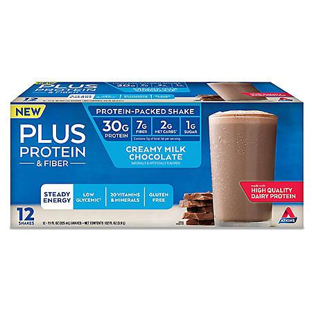 Atkins PLUS Protein & Fiber Ready to Drink Shake (12 ct.)