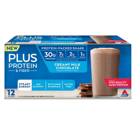 Atkins PLUS Protein & Fiber Ready to Drink Shake (12 ct.)