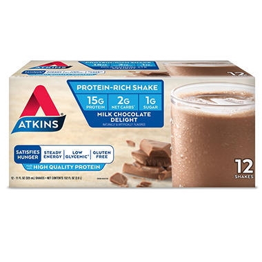 Atkins Milk Chocolate Ready to Drink Shake (12 pk.)