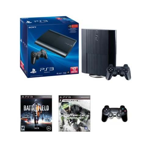 PS3 12GB System with Tom Clancy:Splinter Cell-Blacklist and Battlefield 4
