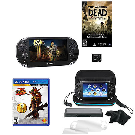 PS Vita 3G/ WiFi System with Walking Dead & 4GB Memory Card with Jax & Daxter and Starter Kit