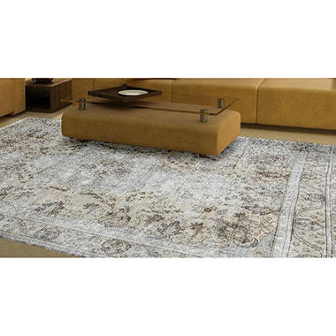 Traditional Hand Knotted 10 X 12 Area Rug Taupe Ivory Brown