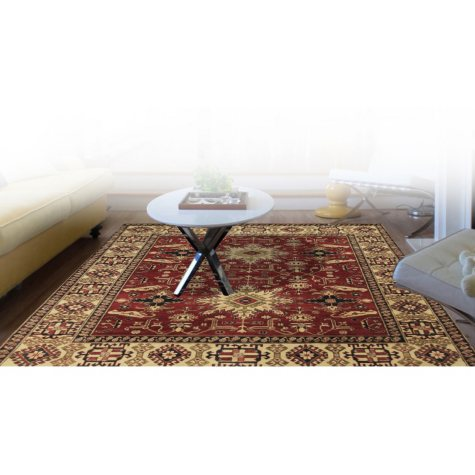 Traditional Hand-Knotted 8' x 12' Area Rug, Multi Color