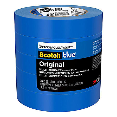 "ScotchBlue Original Multi-Surface Painter's Tape, 0.94"" x 45 yd, 5 Pack"
