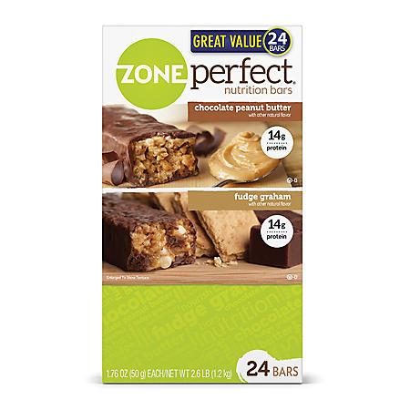 ZonePerfect Nutrition Bars, Chocolate Peanut Butter & Fudge Graham (24 ct.)