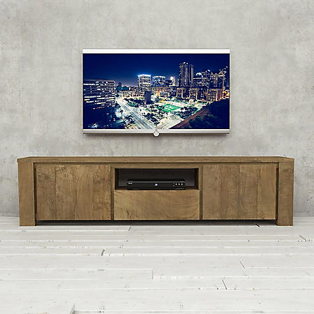 """Teca 72"""" Reclaimed Wood TV Stand (Assorted Colors)"""