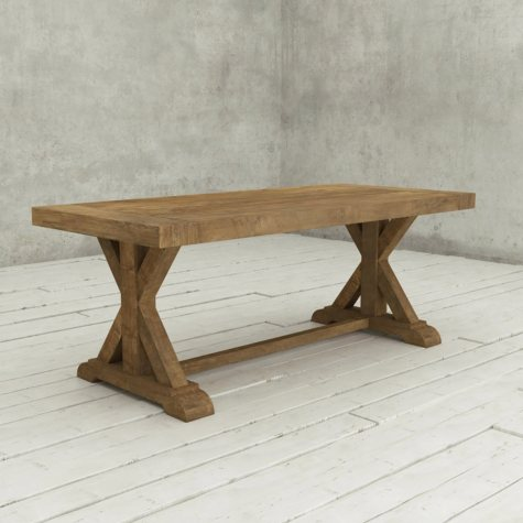 "Madera 78"" Reclaimed Wood Dining Table (Assorted Colors)"