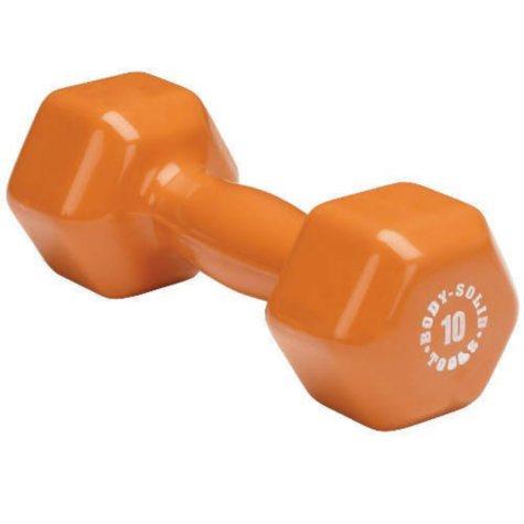 Body Solid Tools 10 lb. Vinyl Orange Dumbbell