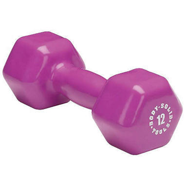 Body Solid Tools BSTVD12 12 lb. Vinyl Dumbbell