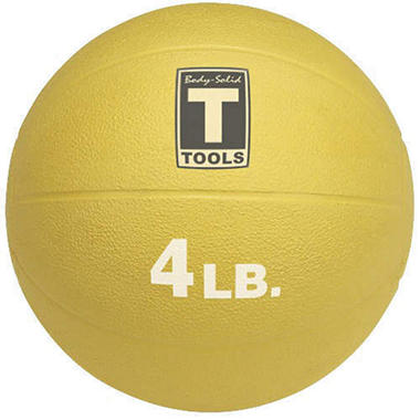 Body Solid Tools BSTMB4 4 lb. Yellow Medicine Ball