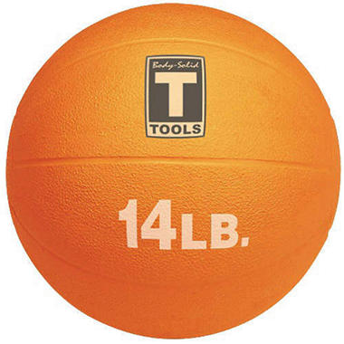 Body Solid Tools BSTMB14 14 lb. Orange Medicine Ball