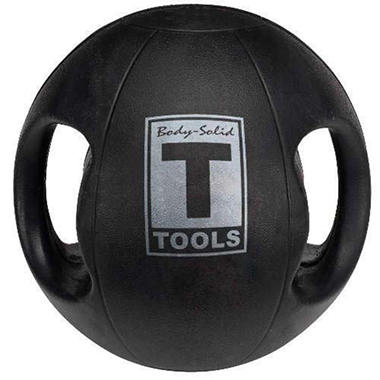 Body Solid Tools BSTDMB8 8 lb. Dual-Grip Medicine Ball