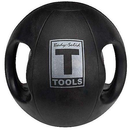 Body Solid Tools BSTDMB14 14 lb. Dual-Grip Medicine Ball