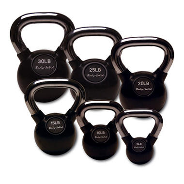 Body Solid Tools Premium Kettle Bell Set 5-30 lbs.
