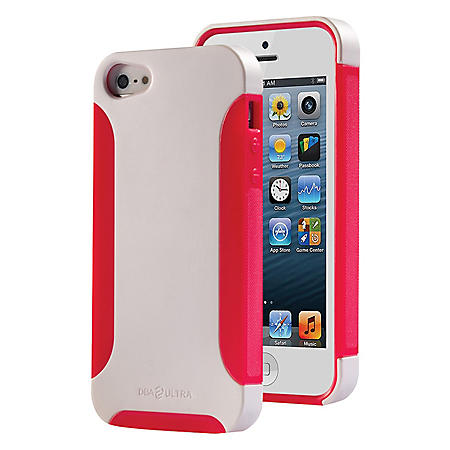 DBA Cases Ultra Complete Case for iPhone 5 - Pearl White/Hot Pink