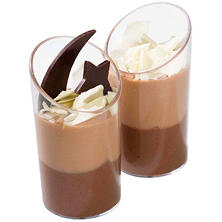 Galaxy Desserts Double Chocolate Mousse Duo (1.45 oz. cup, 96 ct.)