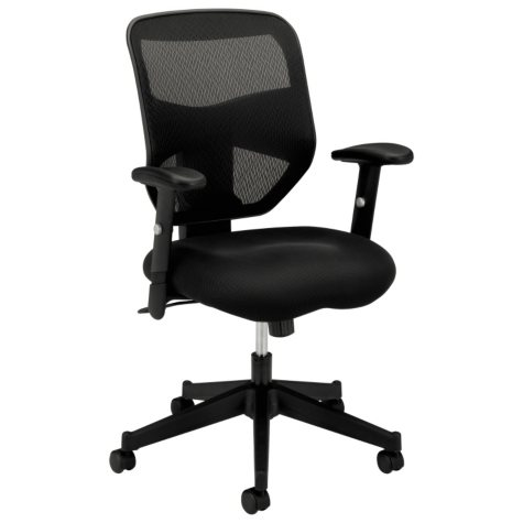 basyx VL531 High-Back Work Chair, Black