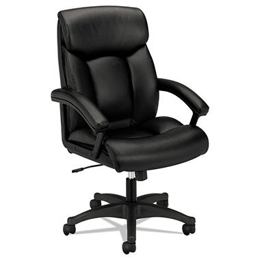 Wonderful Basyx By HON   VL151 Executive High Back Chair, Black Leather