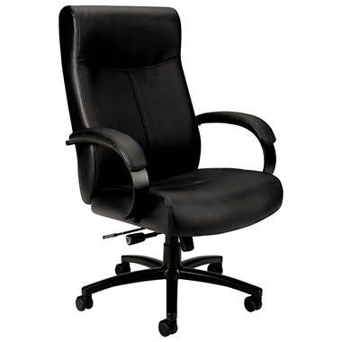 basyx by HON - VL680 Series Big & Tall Leather Chair - Black