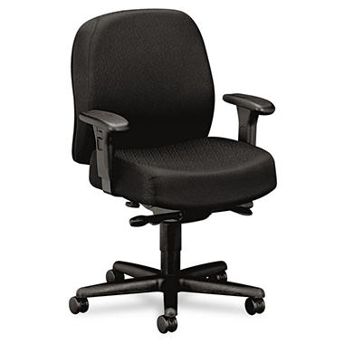 HON - 24-Hour Mid-Back Synchro-Tilt Task Chair - Black