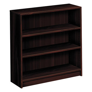 HON - Laminate 3-Shelf Bookcase - Mahogany
