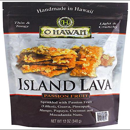 O Hawai'i Island Lava Passion Fruit Brittle (12 oz.)