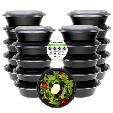 Freshware 28 oz. Bowl Meal Prep Containers with Lids, 21 Pack