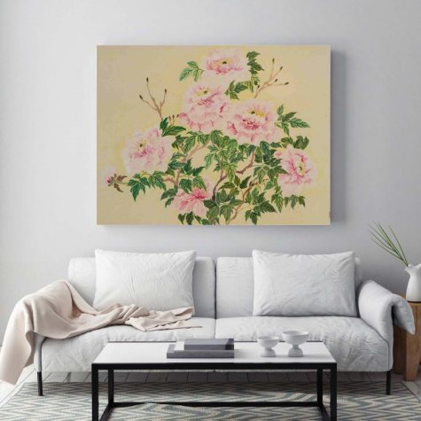 "Wealth of Peonies Canvas Wall Art, 24"" x 32"""