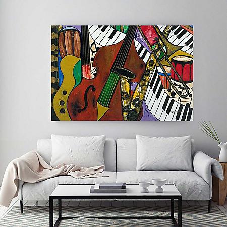 """Jazz Mix Canvas Wall Art, 18"""" x 27"""""""