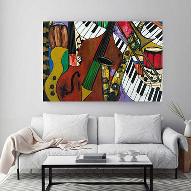 "Jazz Mix Canvas Wall Art, 18"" x 27"""
