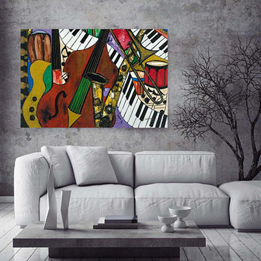 "Jazz Mix Canvas Wall Art, 20"" x 30"""