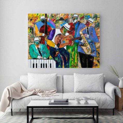 "Jazz Session Canvas Wall Art, 20"" x 26"""