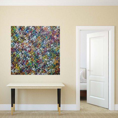"Flowers Canvas Wall Art, 18"" x 18"""