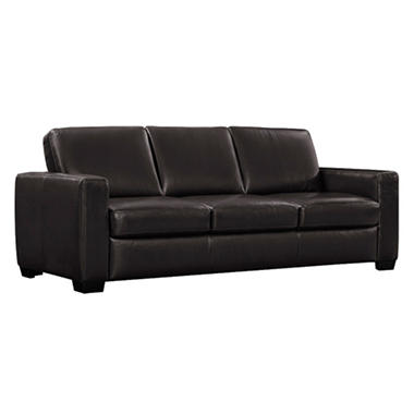 natuzzi leather sofa - sam's club